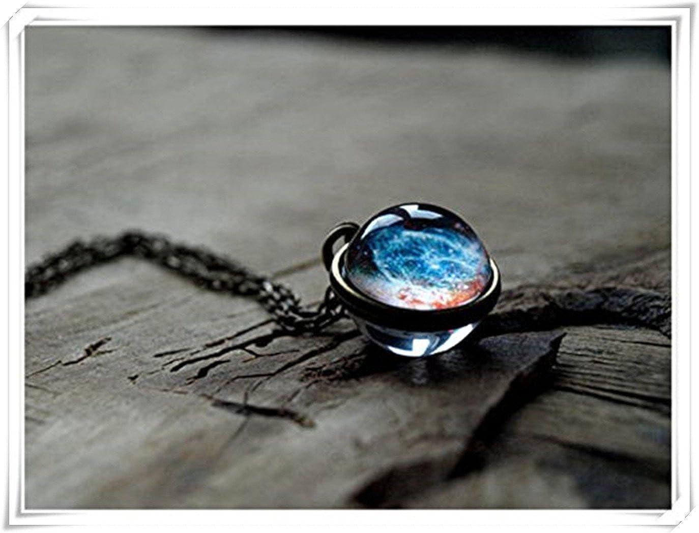 Nebula Collier, Pendentif Space Pendentif, Galaxy, l'univers Pendentif l' univers Pendentif Dandelion chen NU45