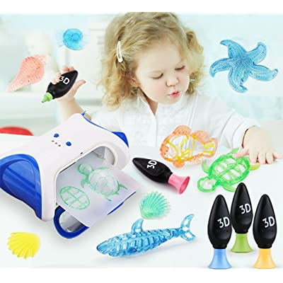 SOWOFA Kids 3D Creation Maker Drawer Painter with 4 Colors Maker Gel Refill and Models , Best Gift: Toys & Games