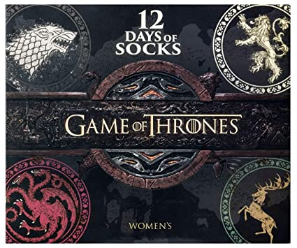 2fb8c11e21d54 Image Unavailable. Image not available for. Color: Women's Game of Thrones  12 Days of Socks Advent Calendar ...