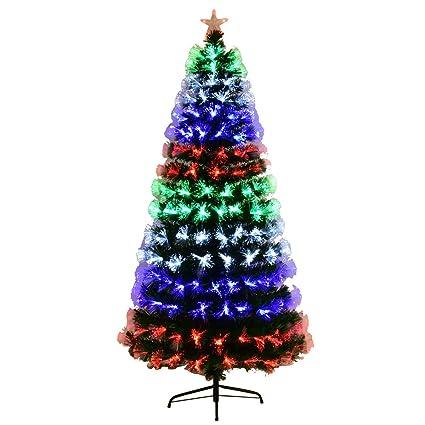 d6aacd0594497 Amazon.com  Goplus Pre-Lit Fiber Optic Christmas Tree Artificial Fireworks  Spruce Tree w Multicolor LED Lights