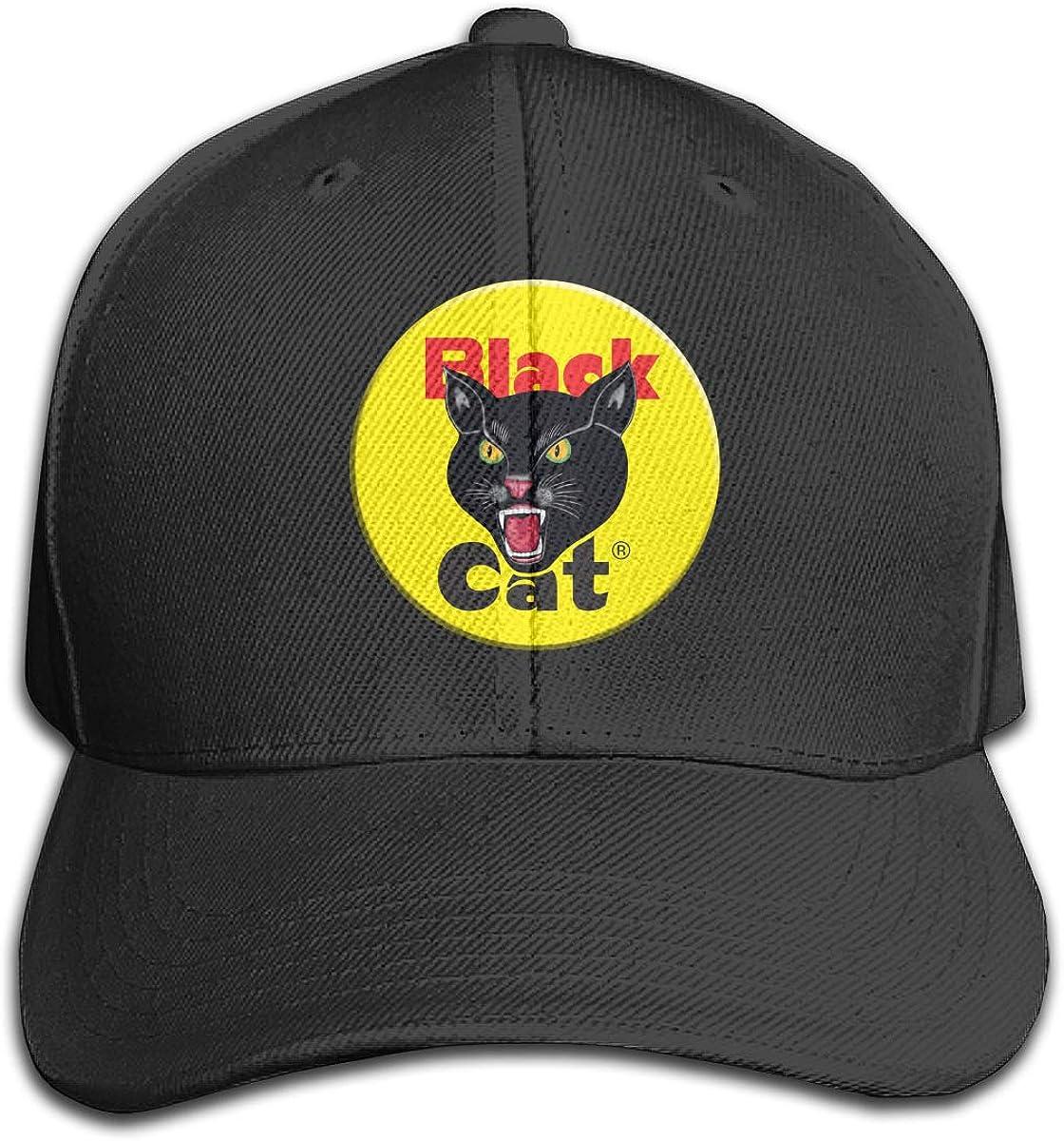 Black Cat Fireworks Trucker Hat 4th of July Vintage 80's Style Snapback Black
