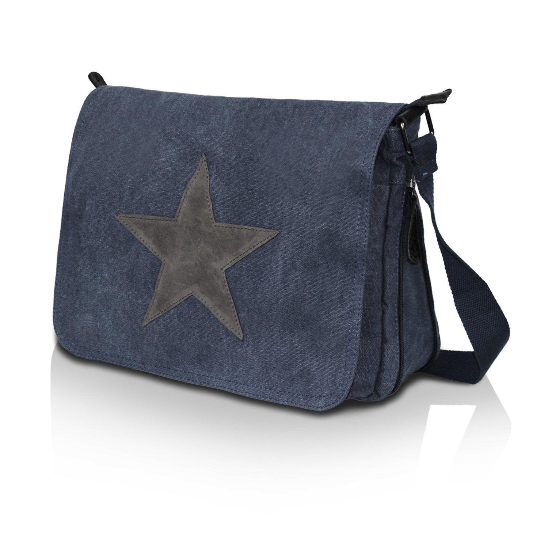 Glamexx24 väskor av äkta läder damhand och axel tillverkad i Italien blå