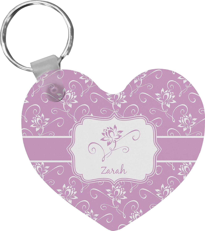 Lotus Flowers Heart Keychain (Personalized)