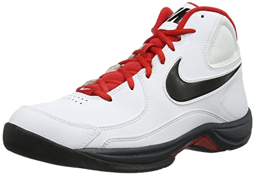 072e5261398 Nike 511372-118 Men White The Overplay VII Sports Shoes- 9 UK  Buy Online  at Low Prices in India - Amazon.in