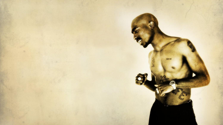 Pendientes 2 Pac Tupac Shakur Topless tatuaje de fondo digital 3d ...