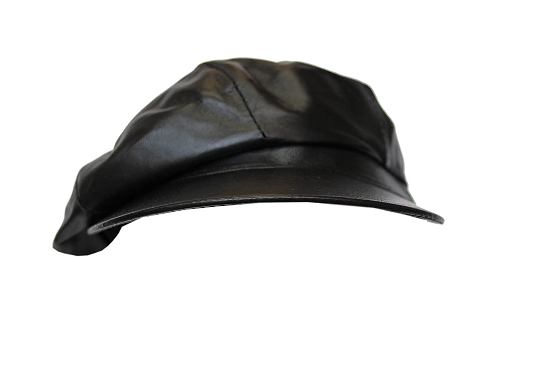 VICTORIAN PEAKY BLINDERS ROYAL BLUE REAL LEATHER CAP MEN BAKER NEWS BOY GATSBY