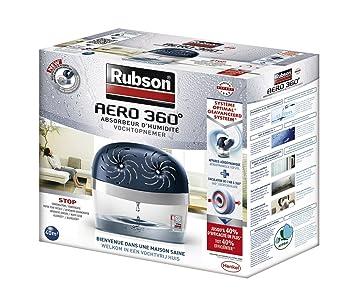 Rubson Aero 360º Stop - Absorbedor de humedad (40 m²), 2 recargas de