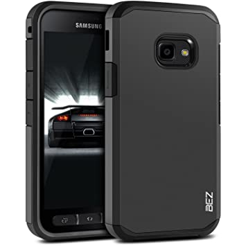 huge discount 9409f 49cb6 BEZ Case for Xcover 4 Case, Shockproof Cover Compatible with Samsung Galaxy  Xcover 4, Shock Absorbing, Heavy Duty Dual Layer Tough Cover, Black