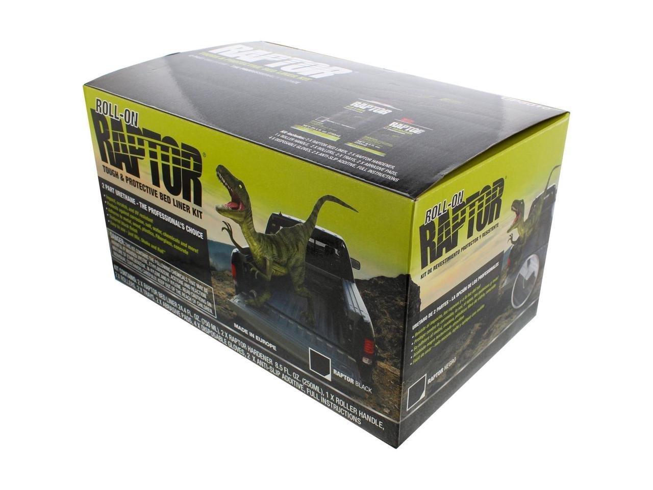 Raptor UP5010 Black 4 Liter Kit with Roller Coating Roll On Raptor