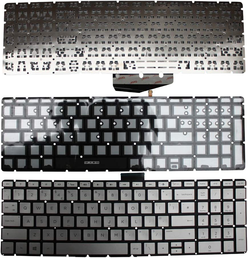 HP Home 15-BS040la HP Home 15-bs039ur HP Home 15-BS039TX Keyboards4Laptops UK Layout with Pointer Grey Frame Backlit Grey Windows 8 Laptop Keyboard for HP Home 15-bs039nu HP Home 15-BS039TU