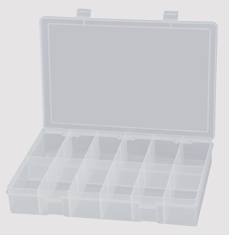 9 Length x 13-1//8 Width x 2-5//16 Height 12 Compartment Clear Durham LP12-CLR Polypropylene Large Box