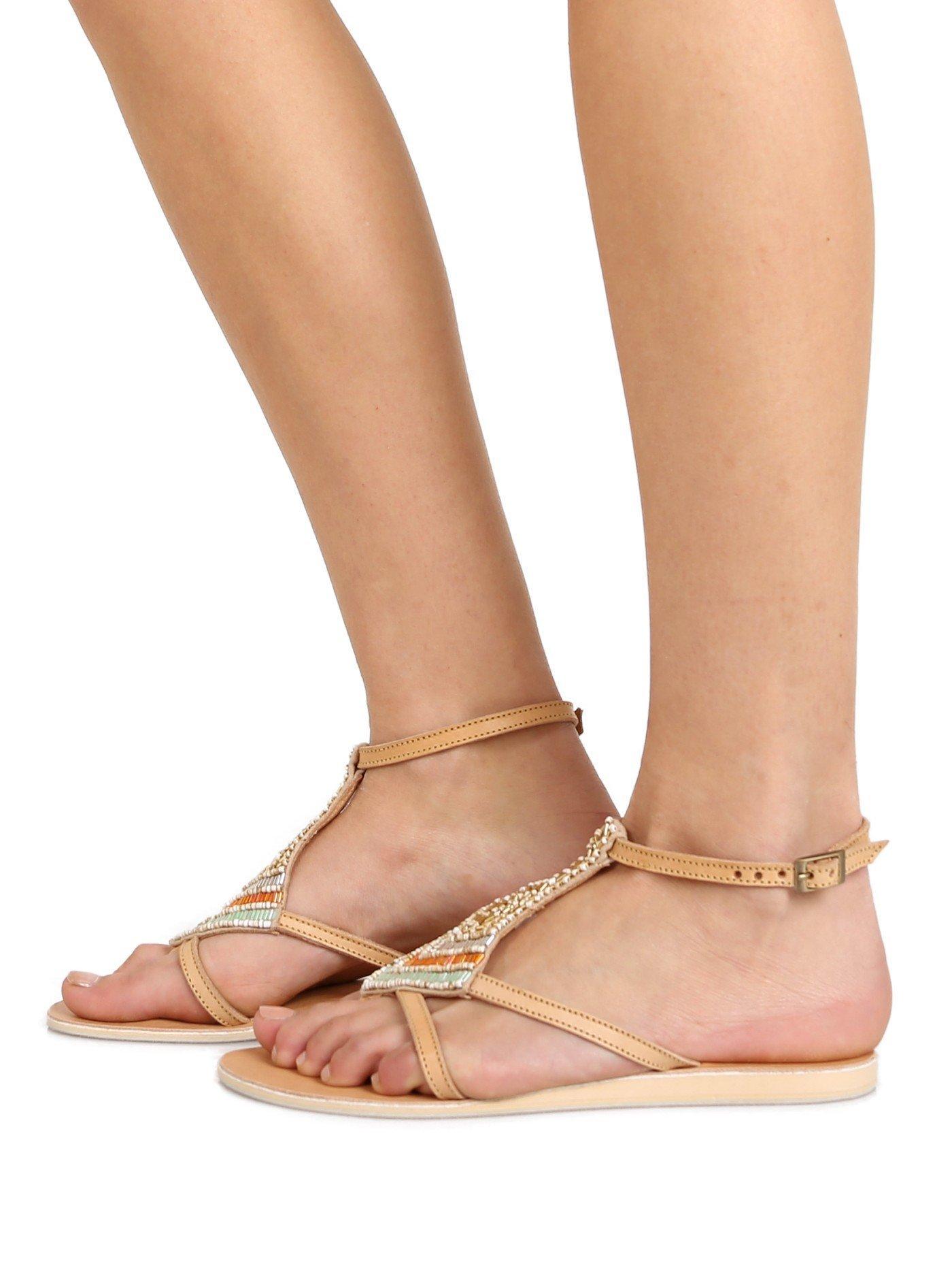 Cocobelle Women's Arrow Sandals, Sand, 36 EU (6.5 B(M) US Women) by Cocobelle