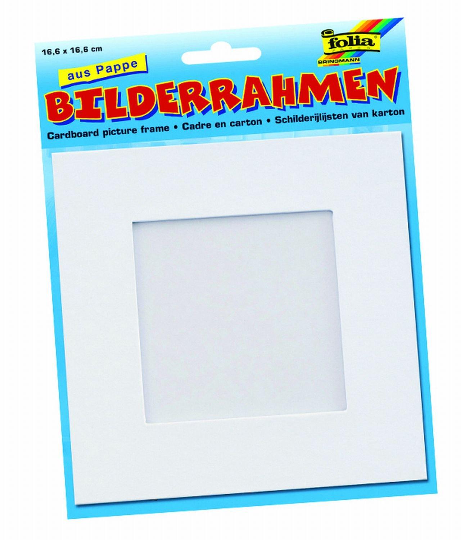 Amazon.de: Folia 2334 - Bilderrahmen aus Pappe, 166x166 mm, für ...