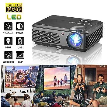Proyector HD Proyector de Cine en casa 4200 lúmenes portátiles ...