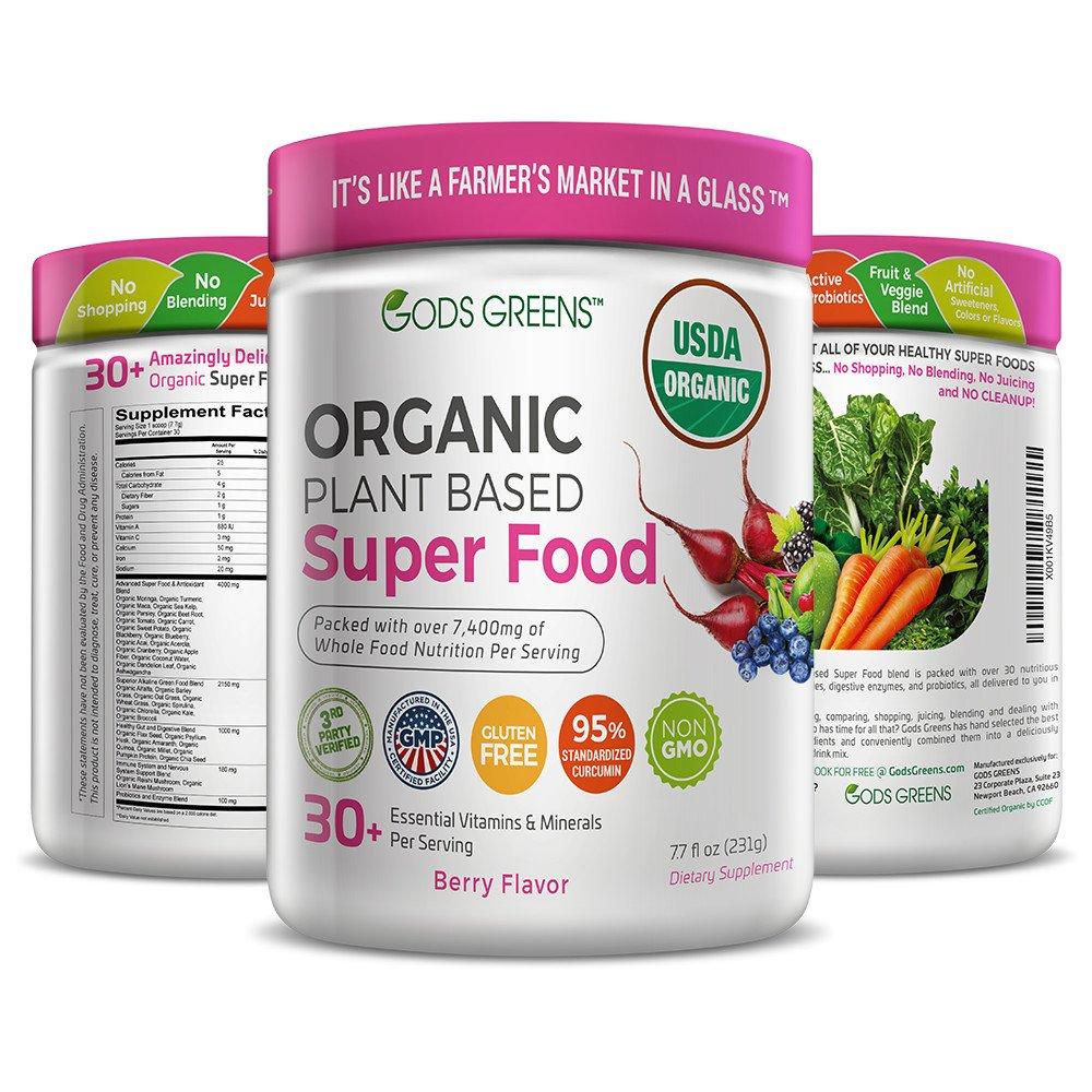 Super Greens | # 1 Polvo de Superfood a base de plantas | 30 ...