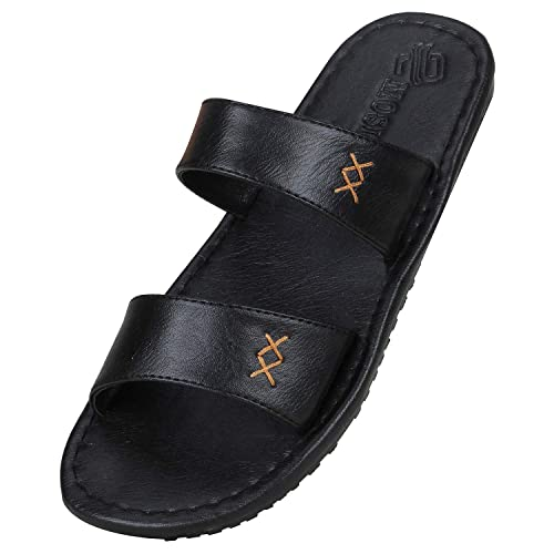 99316e9439f7 Emosis Men s 11 Stylish Tan Brown Black Colour Casual Ethnic Formal Office  Slide Slipper Cum Sandal  Buy Online at Low Prices in India - Amazon.in