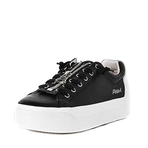 011ef110ffe1 Ash Buzz Platform Trainers Black Leather  Amazon.co.uk  Shoes   Bags