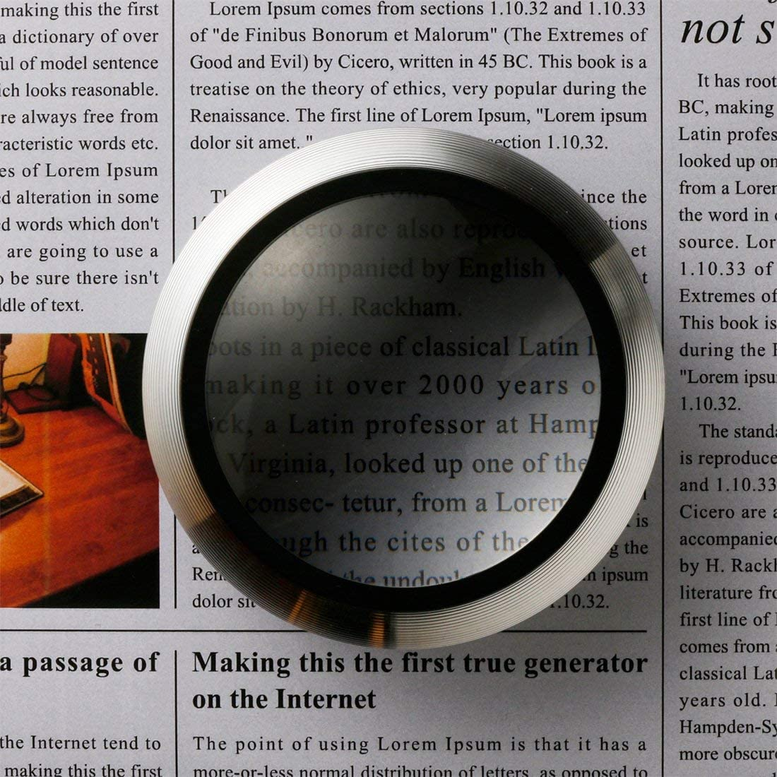 Pink Smolia XC 3X LED Lighted Magnifying Glass Dome Magnifier Hands-Free USB Rechargeable