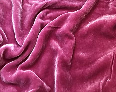 Hand Dyed Mauve Silk Velvet Ribbon 3 Widths to choose from