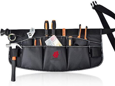 bolsa para cintur/ón de herramientas bolsa de herramientas de bolsillo peque/ña con cintur/ón de nailon ajustable Delantal para herramientas resistente bolsa de trabajo profesional para electricistas