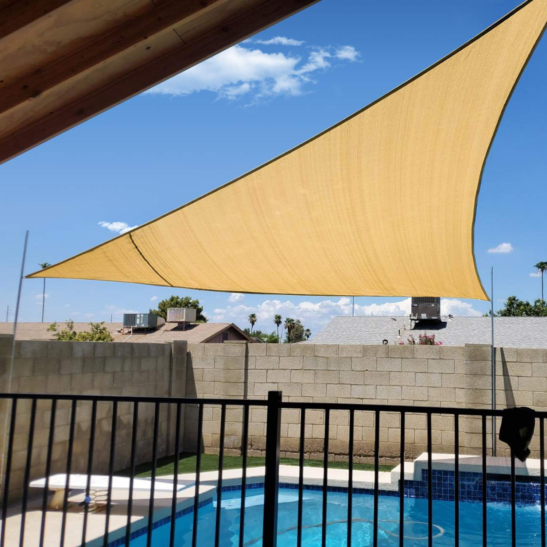 Artpuch Sun Shade Sail Wall Triangle UV Block for Shelter