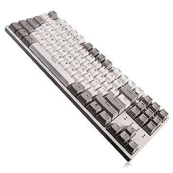 DURGOD Teclado mecánico Gaming Cherry MX Brown 87 teclas USB C Cable PBT Keycaps: Amazon.es: Electrónica