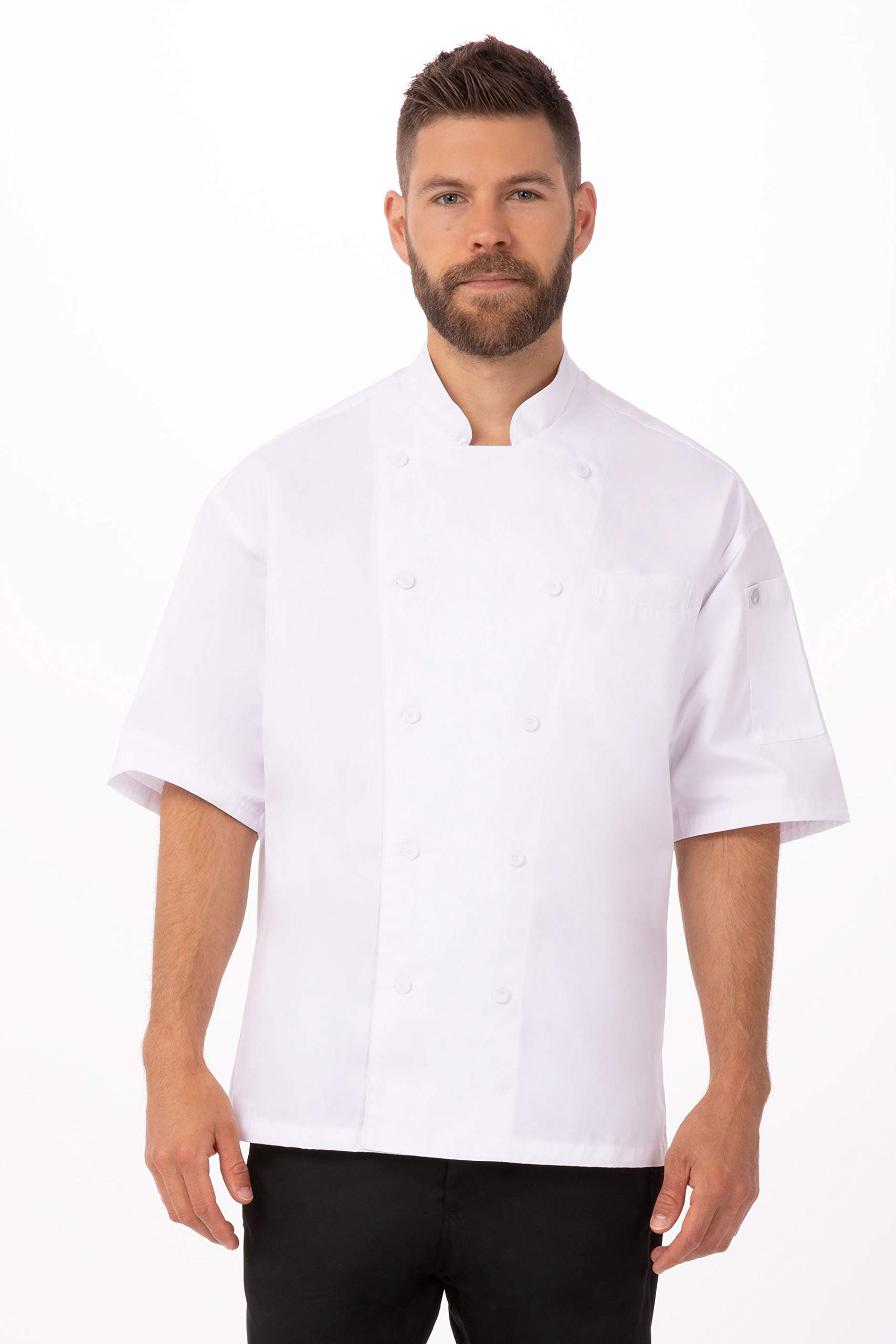 Chef Works Unisex Palermo Executive Chef Coat, White, Small by Chef Works