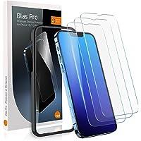 vau Glas Pro kompatibel med iPhone 13/13 Pro (6,1 tum full skärm) pansarfolie skärmskydd 3 stycken med mall