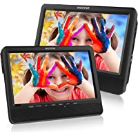 WONNIE 9.5'' Dual Screen DVD Player Portable Car Headrest DVD Players, Great Gifts for Kids(Black)
