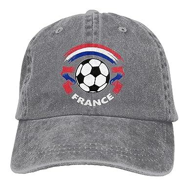 coût modéré esthétique de luxe Garantie de satisfaction à 100% Sports Denim Cap French Flag and Football Women Golf Hats ...