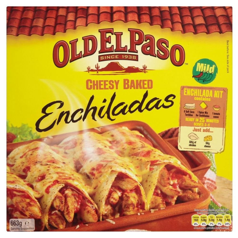 Old El Paso Cheesy Baked Enchilada Kit (663g)