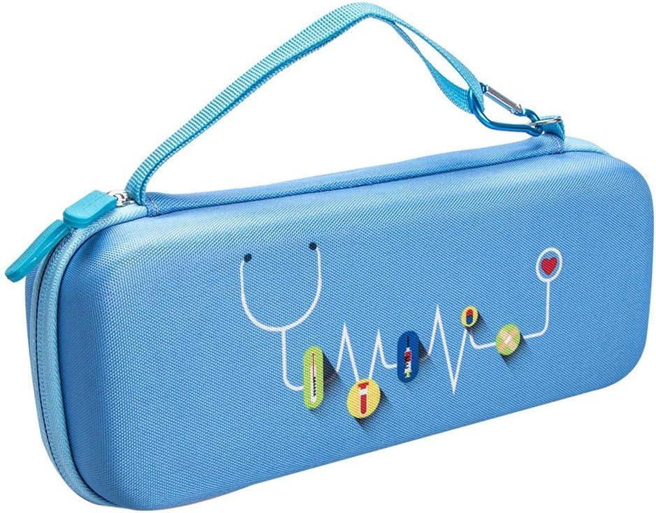 KT-Case Estetoscopio Caso, Compatible con 3M Littmann 5803 Classic III Stethoscope Series Bolsa de Viaje Omron ADC Dixie EMS Stethoscope Multifunción Caja de Almacenamiento de Moda