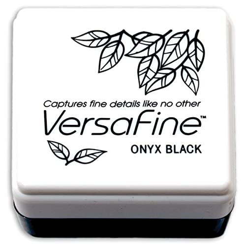Tsukineko Versafine Small Ink Pads Instant Dry Pigment Ink, Onyx Black