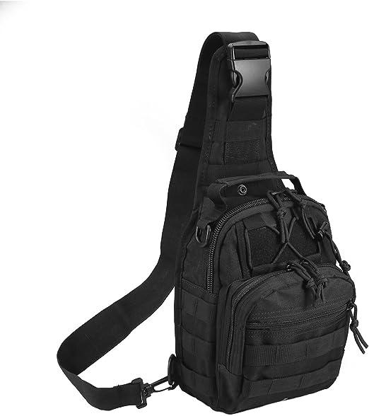 Multifunctional Chest Shoulder Satchel Bag Tactical Sling Pack Mens Shoulder Bag