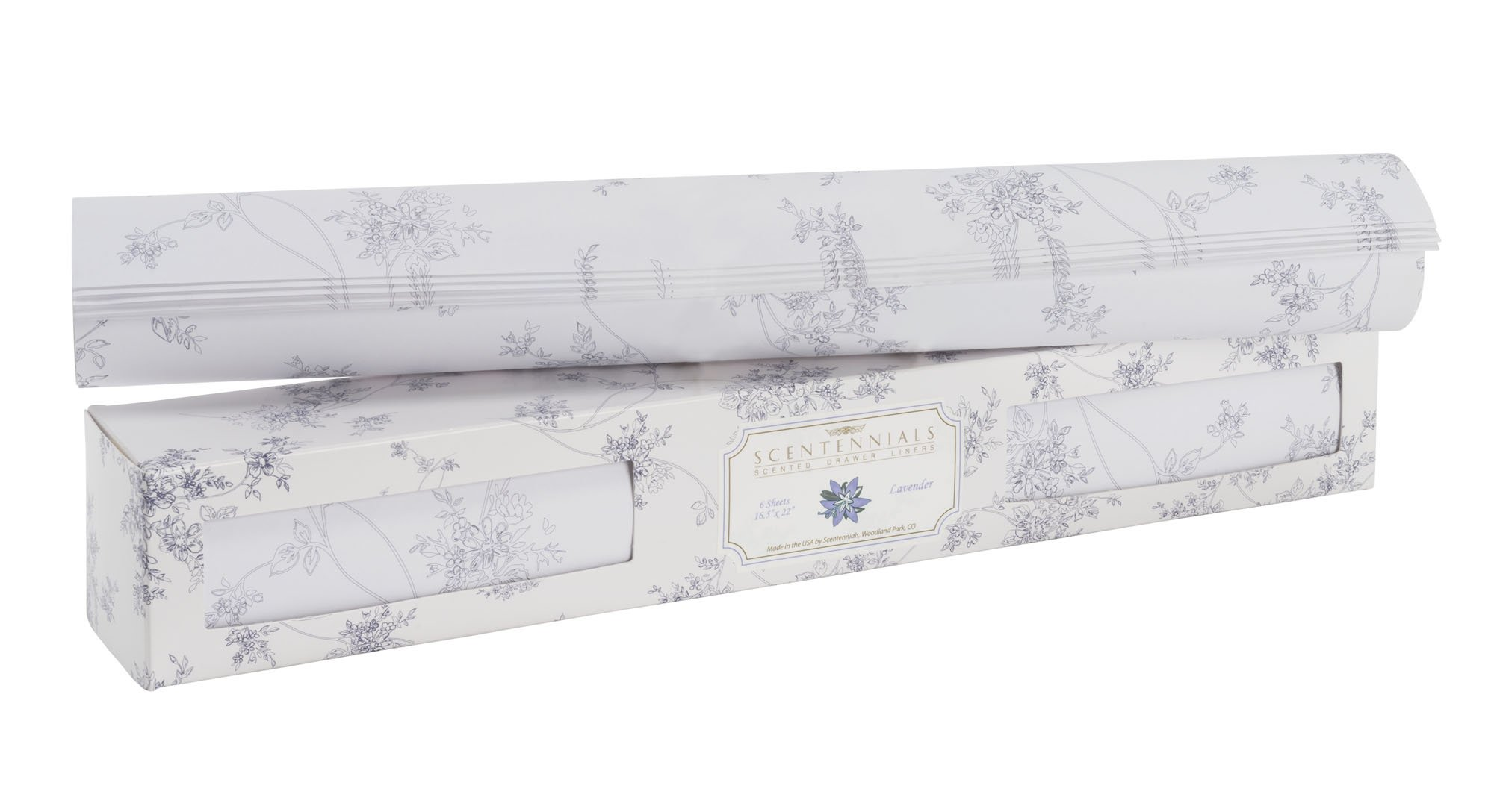 Scentennials Lavender (18 Sheets) Scented Drawer Liners by Scentennials Scented Drawer Liners