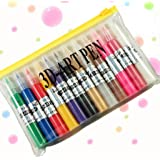 12 Colors 3D Nail Art Design Pen w/ Paint for Natural Nails, Acrylic French Tips