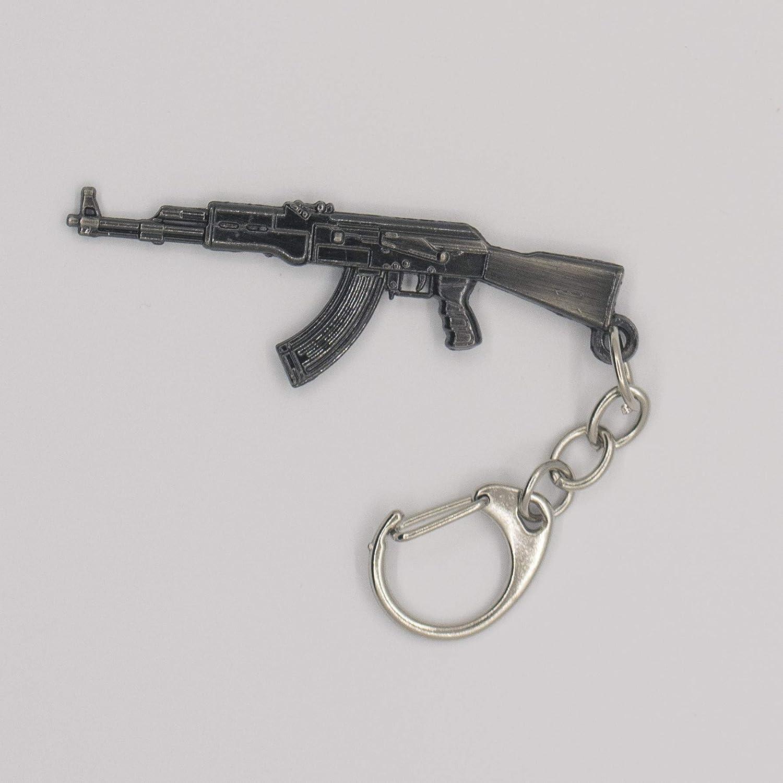 Portachiavi con ciondolo a forma di pistola M4A1 AK47 Desert Eagle Revolver portachiavi souvenir Ak41 idea regalo per uomo