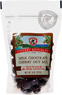 product image for Cherry Republic Milk Chocolate Cherry Nut Mix - Nutrition-rich Trail Mix Featuring Milk Chocolate Coated Tart Dried Cherries, Roasted Pecans, Cashews & Almonds - All-purpose Snack Mix - 8 Ounces