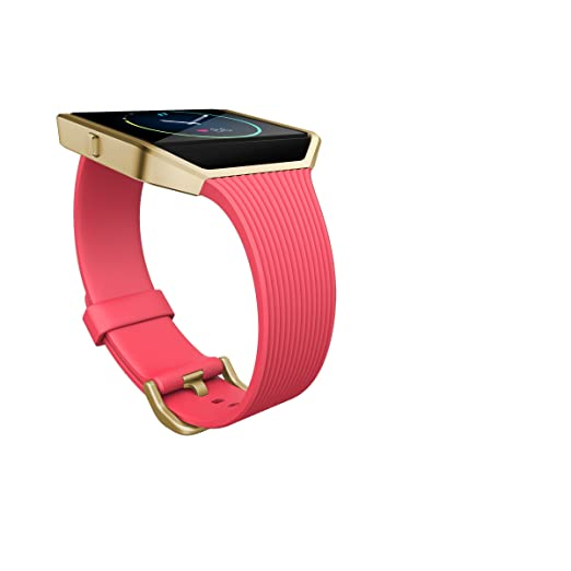 Fitbit Blaze Smart Fitness Watch Large, Pink and Gold
