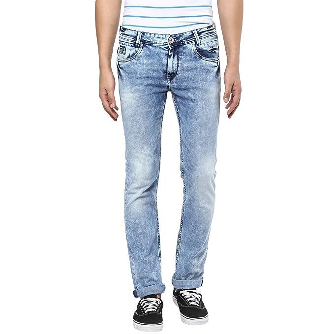 5f52d2a1c83b Mufti Mens Light Blue Low Rise Super Slim Fit Jeans (28)  Amazon.in ...