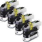 ブラザー 用 LC211 互換インク 【 LC211BK 互換 ブラック4本セット 】 ISO14001/ISO9001認証工場生産商品 残量表示対応ICチップ 1年保証 インクのチップスオリジナル 対応機種: DCP-J562N / MFC-J730DN / MFC-J730DWN / MFC-J737DN / MFC-J737DWN / MFC-J830DN / MFC-J830DWN / MFC-J837DN / MFC-J837DWN / MFC-J880N / MFC-J887N / DCP-J567N / MFC-J900DN / MFC-J900DWN / MFC-J907DN / MFC-J907DWN / MFC-J990DN / MFC-J990DWN / MFC-J997DN / MFC-J997DWN / DCP-J762N / DCP-J767N / DCP-J962N / DCP-J963N-B / DCP-J963N-W / DCP-J968N-B / DCP-J968N-W
