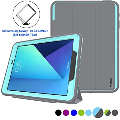 11d7393c3e49 SAMSUNG Galaxy TabS3 9.7 inch Tablet Case Heavy Duty Shockproof Smart Cover  Auto Sleep Wake