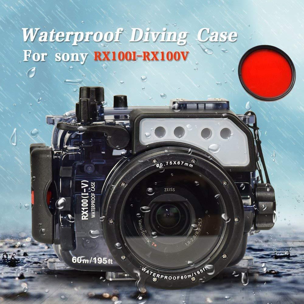 Sea Frogs 60m / 195ft水中カメラ防水ハウジングケース for Sony RX100/RX100 II/RX100 III/RX100 IV/RX100 V 【並行輸入品】   B07GGQQ34W
