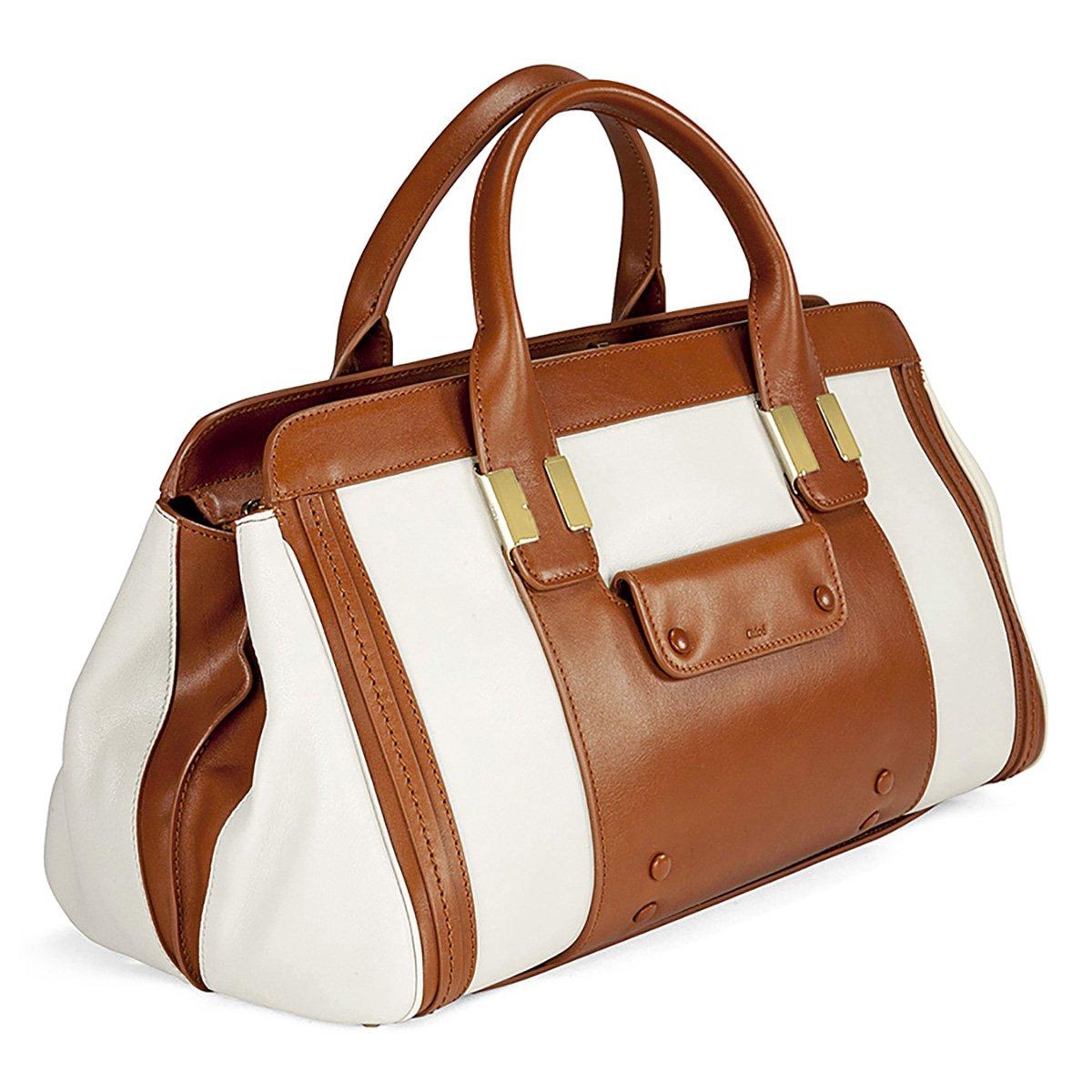 d38c844655 Chloe Alice Tan - White Leather Shoulder Bag 3S0161-703-1: Handbags ...