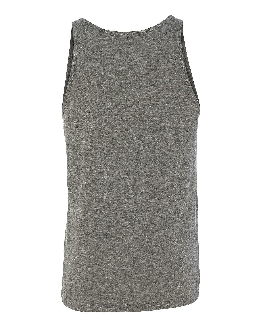 Large Grey Triblend Canvas Bella Comfort Scoop-Neck Jersey Tank Top