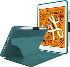 Soke Case - iPad Mini 5 Case 2019 (5th Generation), [Luxury Series] Extra Protective But Slim, Strong Magnetic, 4 Convenient Stand Angles, Auto Sleep/Wake Cover, Elastic Pencil Holder(Teal)