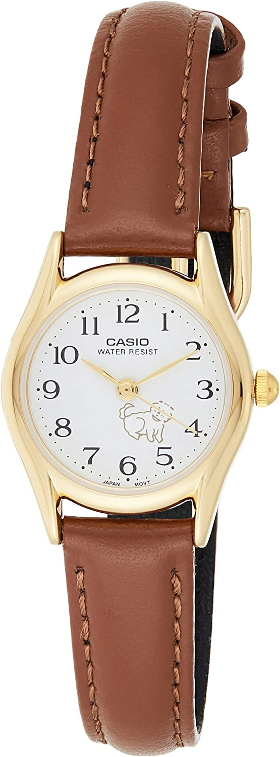 Casio White Dial Leather Strap Ladies Watch LTP1094Q7B