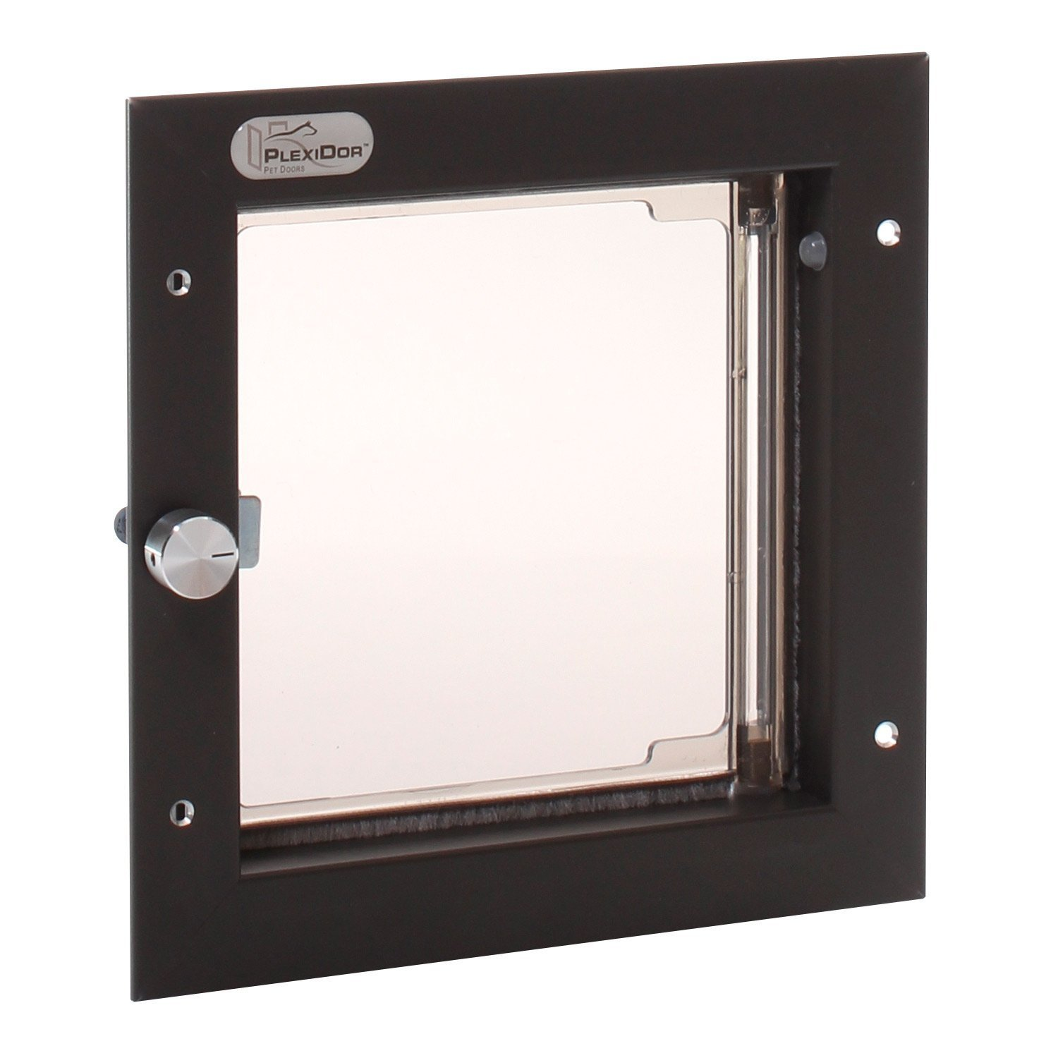 Wall Mounted PlexiDor Performance Pet Door for Cats or Small Sized Dogs in Bronze