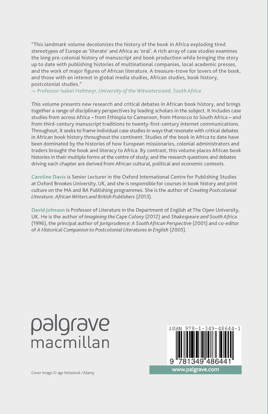 The Book in Africa: Critical Debates (New Directions in Book History) by Palgrave Macmillan