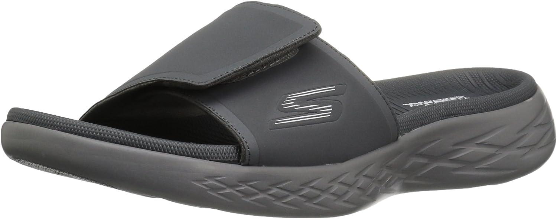 600-55355 Slide Sandal,Charcoal